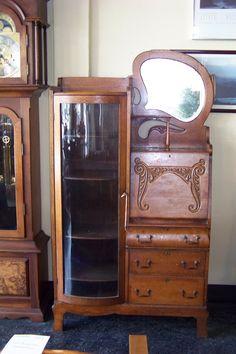 side by side secretary w bookcase desk