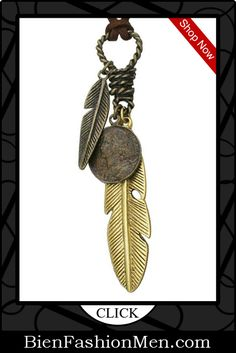 Mens Necklaces | Mes Necklace | Mens Accessories | Mens Jewelry | Mens Fashion ♦ Urban Male Mens Brown Leather Feather Necklace Adjustable Length $19.99
