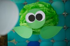 Paper tissue turtle. Under the sea birthday party - Ana turned 1!