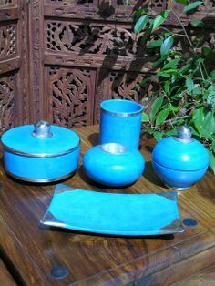 The brightest turquoise ceramics help create the feeling of a Moroccan seaside retreat. Find our full range of modern Moroccan ceramics http://www.maroque.co.uk/catalog.aspx?p=05902
