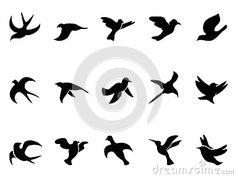 Silhouettes du vol de l oiseau simple