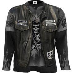9b3705a5503 JAX WRAP - Allover Licensed Longsleeve T-Shirt Black