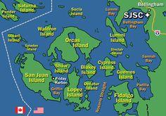 San Juan Islands Map