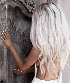 Hair hair styles hair color hair cuts hair color ideas for brunettes hair color ideas White Blonde Hair, Icy Blonde, Gray Hair, Platinum Blonde Balayage, Platinum Blonde Hair Color, Platinum Blonde Hairstyles, Silver Platinum Hair, White Ombre Hair, White Blonde Highlights