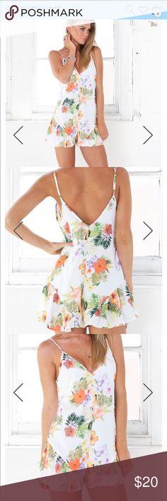 Selling this Showpo Calypso play suit in Orange Floral! on Poshmark! My username is: whitzach27. #shopmycloset #poshmark #fashion #shopping #style #forsale #showpo #Pants