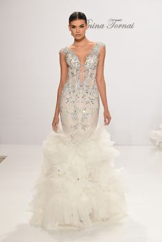 The Sexiest Gowns From Bridal Fashion Week Fall 2017 - Pnina Tornai For Kleinfeld from InStyle.com