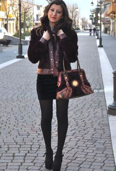 In Burgundy  #fashion #outfit #style #look