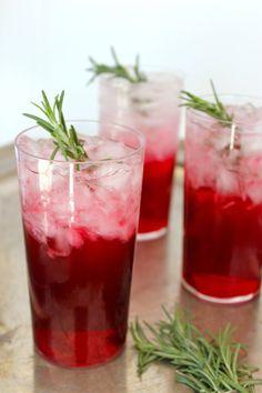 Cocktail Recipe:  Rosemary Sloe Gin Fizz