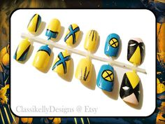 Xmen Wolverine Nail Set by ClassikellyDesigns on Etsy, $20.00
