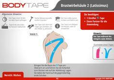 Brustwirbeksäule Tapen Kinesiologie / Schritt-Für-Schritt ⚠️ Mehr unter: www.bodytape.net