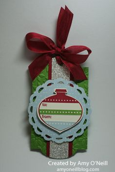 Sparkly Ornament Tag