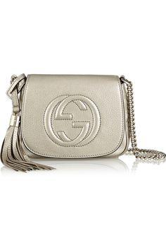 Gucci Sac porté épaule en cuir métallisé Soho NET-A-PORTER.COM