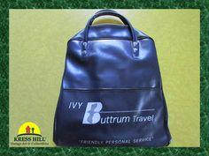 Vintage Blue Airlines Footed Shoulder Bag Ivy by KressHillVintage, $24.00