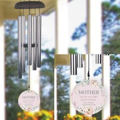 Perfect for mom or grandma to always remember your when the wind blow Personalized Wind Chimes, Thoughtful Gifts For Her, Crop Tool, Word Art Design, Personalized Gifts For Her, Always Remember You, Mother Day Gifts, Mom, Outdoor Decor