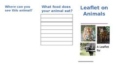 Simple leaflet to describe an animal