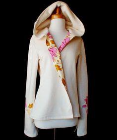 PEONY COAT  organic cotton fleece hooded womens jacket by econica, $285.00