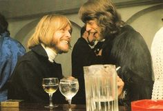 Bearded Brian Jones and Mick Jagger