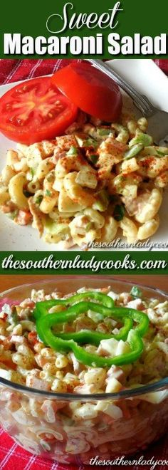 SWEET MACARONI SALAD - HAM - The Southern Lady Cooks