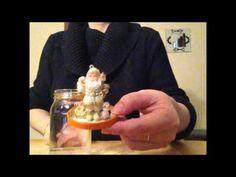 DIY déco/cadeau de noël boule à neige de noël  :) facile à faire!