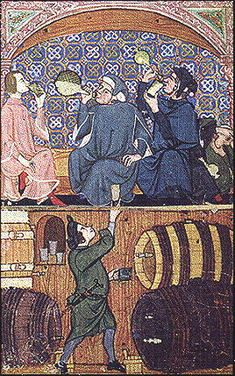 Medieval Inns and Taverns appeared in England in the twelfth and thirteenth centuries, and were apparently fairly common, especially in towns, by the fifteenth century.While inns provided lodgings for travelers, taverns were drinking houses that offered pastimes like gambling, singing, and seeking prostitutes.