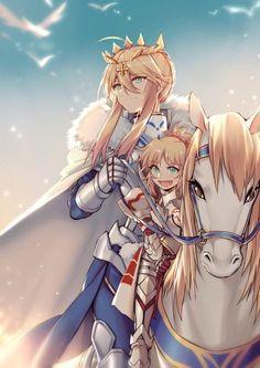 Mordred & Arthur (Double Saber :O)   Fate/Apocrypha