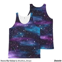 Starry Sky Galaxy All-Over-Print Tank Top Galaxy Fashion, Printed Tank Tops, Aesthetic Clothes, Trendy Outfits, Tank Man, Art Pieces, Sky, Prints