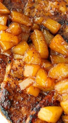 Cinnamon Pork Chops with Spiced Pears