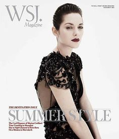 Summer Star – French actress Marion Cotillard is quite the femme fatale on the July/August cover of WSJ Magazine. Captured by Josh Olins with styling by David… Marion Cotillard, Miranda Kerr, Miranda Cosgrove, Wall Street Journal Magazine, Wsj Magazine, Magazine Covers, Gucci Gown, Christian Dior, Divas