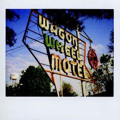 Wagon Wheel Motel in Cuba, MO. A classic sign and motel. To be featured in The Motels of Route 66 film documentary