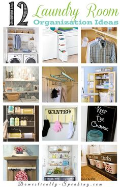 12 Great Laundry Room Organization Ideas to help get your space in order.