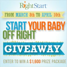 Start Your Baby Off Right Giveaway. $1,600 worth of amazing prizes including BOB Revolution stroller and a Stokke Tripp Trapp highchair! Wow!