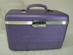 Upcycled  Train Case by Forecast  Metallic Purple by ZellesAttic, $40.00