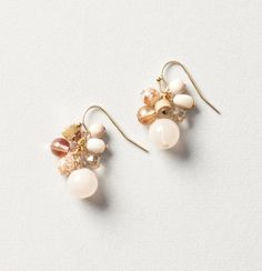 Pink Stone Cluster Earrings