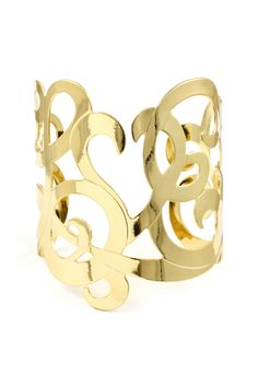 Love Monogram Cuff in Gold....even though I'm a silver and platinum girl, I'm digging it.