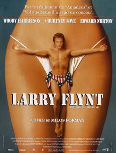 French movie poster, 'The People vs. Larry  Flynt', Miloš Forman, 1996
