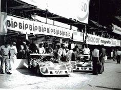 Lola T292, Team BIP (Banco Intercontinental Português), Vila Real, Campeonato de España de Conductores de Velocidad en Circuito para Vehiculos de Gran Turismo-Sport, Portugal, 1973. # 1 Carlos Santos (DNF), and # 2 Carlos Gaspar (winner). Tags: bank ecurie bonnier