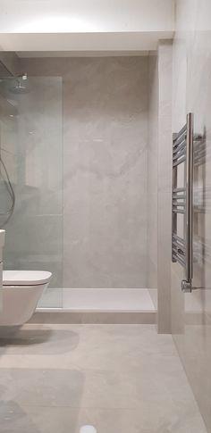 Large Tile Bathroom, Master Bathroom Shower, Bathroom Layout, Bathroom Interior Design, Bathroom Porcelain Tile, Large Tile Shower, Small Bathroom Showers, Bathroom Shower Remodel, Tiled Showers