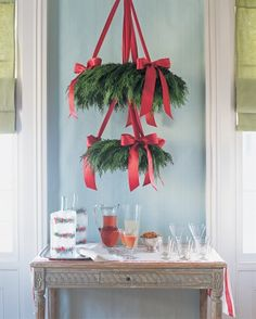 "See the ""Simple Wreath Chandelier"" in our Quick Christmas Decorating Ideas gallery"