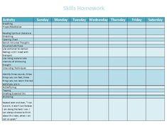Skills Homework Homework, Literature, Meditation, Therapy, Activities, Thoughts, Feelings, Creative, Literatura
