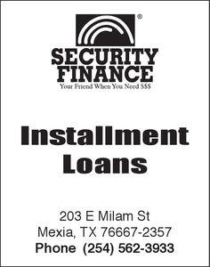 Your Friend When You Need $$$    Installment Loans | Security Finance - Mexia, TX #texas #FairfieldTX #Thornton TX #MexiaTX #GroesbeckTX #shoplocal #localTX