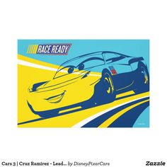 Cars 3 Cruz Ramirez - Lead the Way Canvas Print ,