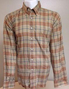 Alan Flusser Brown X-Large Long Sleeve Button Front Shirt XL #AlanFlusser #ButtonFront