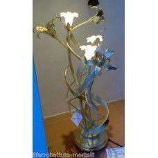 LAMPADA da TAVOLO in Ferro Battuto . Realizzazioni Personalizzate . 495 Iron Table, Wrought Iron, Table Lamp, Vase, Home Decor, Table Lamps, Decoration Home, Room Decor, Vases