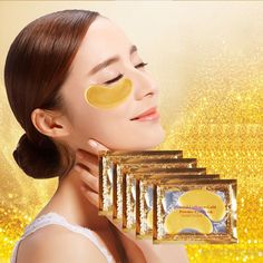 30pcs=15packs Gold Crystal Collagen Eye Mask Hotsale Eye Patches For The Eye Anti-Wrinkle Remove Black Eye Face Care