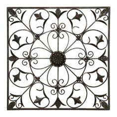 wrought iron wall hanging-One out front, one out back.  Great for outdoor deco!