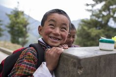 The best thing about visiting places like Bhutan, is meeting the happy locals, like these children! Image: Conor_Ashleigh_-®2014