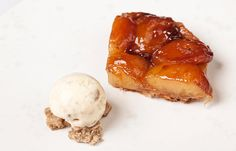 This tarte Tatin recipe from Marcus Wareing is a classic yet simple dessert that you can whip up quickly with store cupboard basics. Serve with some good quality ice cream or cream. Easy Desserts, Dessert Recipes, Pastries Recipes, Dessert Ideas, Delicious Desserts, Marcus Wareing, Classic French Desserts, Great British Chefs, Dinner Party Recipes