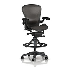 Herman Miller Classic Aeron Work Stool Highly Adj wLumbar Pad  Adj Vinyl Arm  Hard Floor Caster *** Check out this great product.