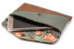 Smartphonetasche KUORI von Hansedelli. Kostenlose Nähanleitung Handytasche Schnittmuster Freebook Täschchen nähen