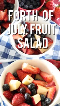 of July Fruit Salad! This is such an easy snack or party recipe for the of July! My kids love Fruit Salad and it's something I don't mind them eating all day long! of july food appetizers recipe ideas of July Fruit Salad! Fruit Salad Recipes, Appetizer Recipes, Easy Fruit Salad, Beetroot Recipes, Jello Salads, Picnic Recipes, Fruit Salads, Picnic Ideas, Picnic Foods